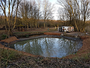 Cleared pond, ready for planting